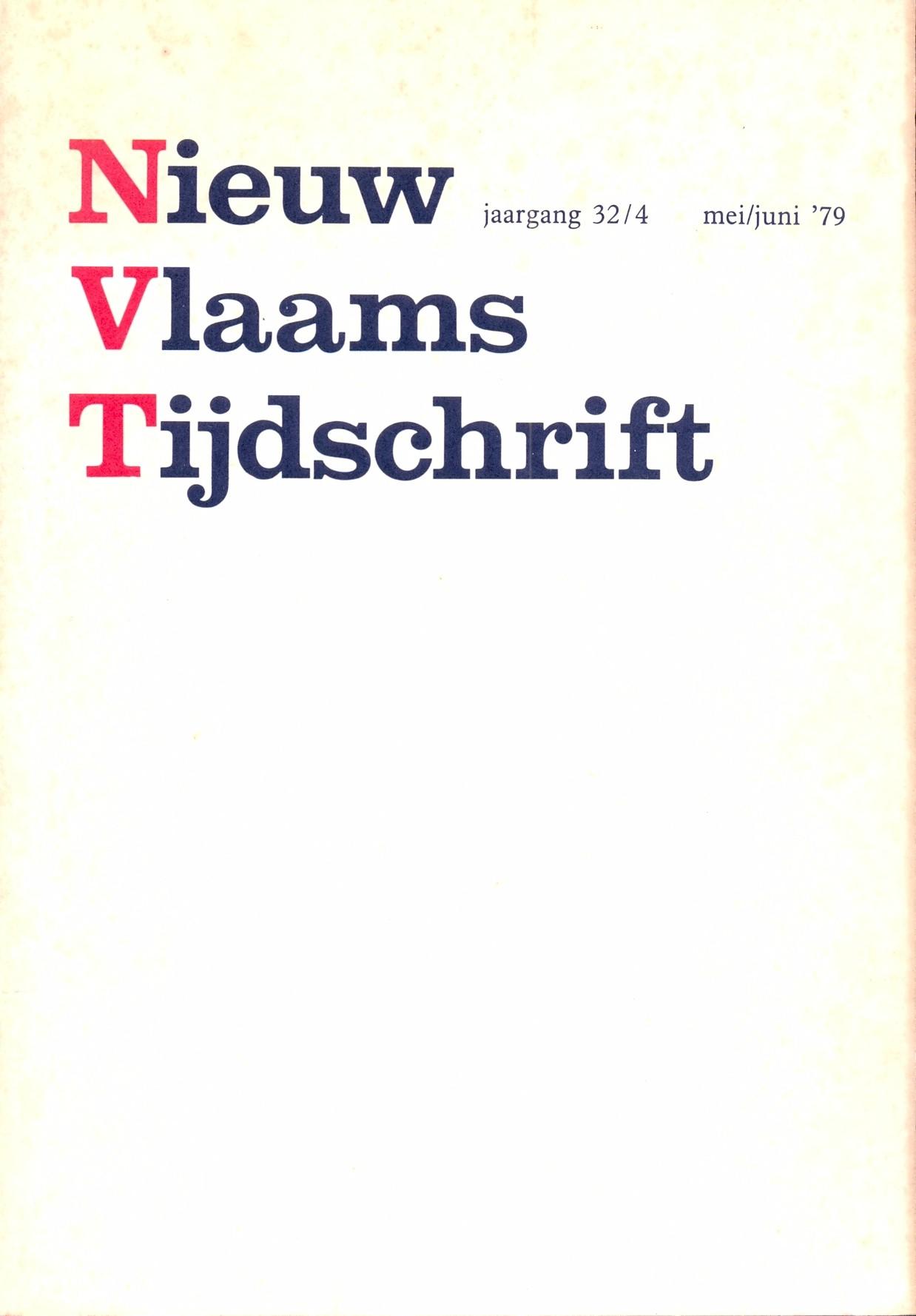 DIVERSE AUTEURS - Nieuw Vlaams Tijdschrift